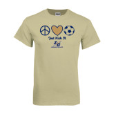 Khaki Gold T Shirt-Just Kick It