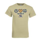Khaki Gold T Shirt-Just Kick It