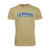 Next Level SoftStyle Khaki T Shirt-Arched Lehman College