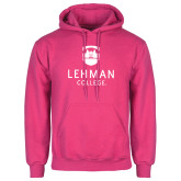 College Fuchsia Fleece Hoodie-University Mark