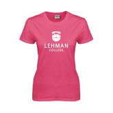 Ladies Fuchsia T Shirt-University Mark