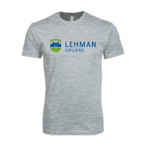 Next Level SoftStyle Heather Grey T Shirt-Flat University Mark