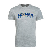 Next Level SoftStyle Heather Grey T Shirt-Arched Lehman College