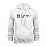 College White Fleece Hoodie-Flat University Mark