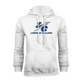 College White Fleece Hoodie-LC Lightning Stacked
