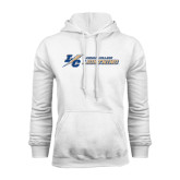 College White Fleece Hoodie-LC Lightning Flat