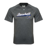 Under Armour Carbon Heather Tech Tee-Baseball Script