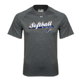 Under Armour Carbon Heather Tech Tee-Softball Script
