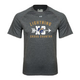 Under Armour Carbon Heather Tech Tee-Lightning Cross Country