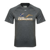 Under Armour Carbon Heather Tech Tee-Swim and Dive Design