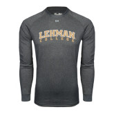 Under Armour Carbon Heather Long Sleeve Tech Tee-Arched Lehman College