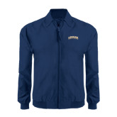 Navy Players Jacket-Arched Lehman College