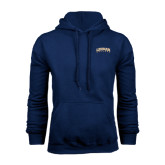 College Navy Fleece Hoodie-Arched Lehman College