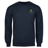 Navy Fleece Crew-University Mark