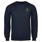 College Navy Fleece Crew-University Mark