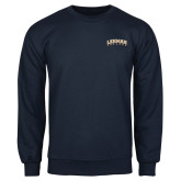 Navy Fleece Crew-Arched Lehman College