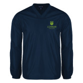 College V Neck Navy Raglan Windshirt-University Mark