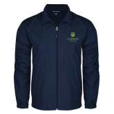 College Full Zip Navy Wind Jacket-University Mark