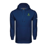 Under Armour Navy Performance Sweats Team Hood-University Mark