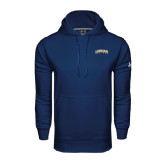 Under Armour Navy Performance Sweats Team Hood-Arched Lehman College