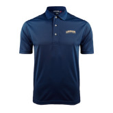 College Navy Dry Mesh Polo-Arched Lehman College