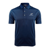 College Navy Dry Mesh Polo-LC Lightning Stacked