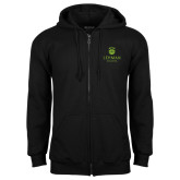 College Black Fleece Full Zip Hoodie-University Mark