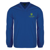 College V Neck Royal Raglan Windshirt-University Mark