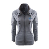 Ladies Sport Wick Stretch Full Zip Charcoal Jacket-University Mark
