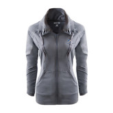 Ladies Sport Wick Stretch Full Zip Charcoal Jacket-LC Lightning Stacked