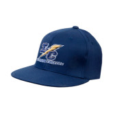 Navy OttoFlex Flat Bill Pro Style Hat-LC Lightning Stacked