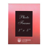 Pink Brushed Aluminum 3 x 5 Photo Frame-Flat University Mark Engraved