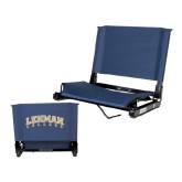 Stadium Chair Navy-Arched Lehman College
