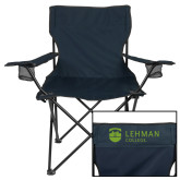 College Deluxe Navy Captains Chair-Flat University Mark