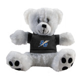 Plush Big Paw 8 1/2 inch White Bear w/Black Shirt-LC Lightning