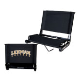 Stadium Chair Black-Arched Lehman College