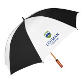 62 Inch Black/White Umbrella-University Mark
