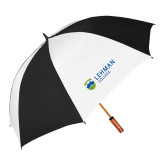 62 Inch Black/White Umbrella-Flat University Mark