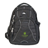 College High Sierra Swerve Black Compu Backpack-University Mark