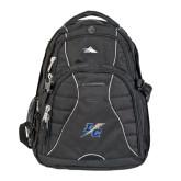 College High Sierra Swerve Black Compu Backpack-LC Lightning