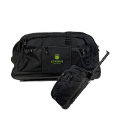 Urban Passage Wheeled Black Duffel-University Mark