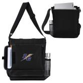 College Impact Vertical Black Computer Messenger Bag-LC Lightning