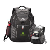 High Sierra Big Wig Black Compu Backpack-University Mark