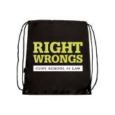 Black Drawstring Backpack-Right Wrongs