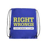 Royal Drawstring Backpack-Right Wrongs