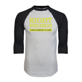 White/Black Raglan Baseball T-Shirt-Right Wrongs