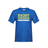 Youth Royal T Shirt-Right Wrongs