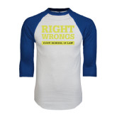 White/Royal Raglan Baseball T Shirt-Right Wrongs