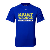 Under Armour Royal Tech Tee-Right Wrongs