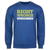 Royal Fleece Crew-Right Wrongs